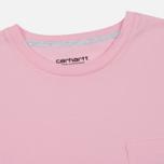 Женская футболка Carhartt WIP W' Carrie Pocket Vegas Pink/Ash Heather фото- 1