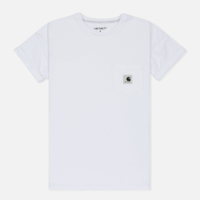 Женская футболка Carhartt WIP W' Carrie Pocket White/Ash Heather