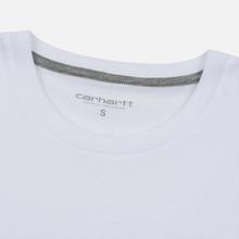 Женская футболка Carhartt WIP W' Carrie Pocket White/Grey Heather фото- 1