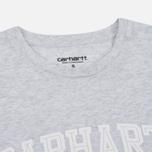 Женская футболка Carhartt WIP W' Carrie Yale Ash Heather/White фото- 1