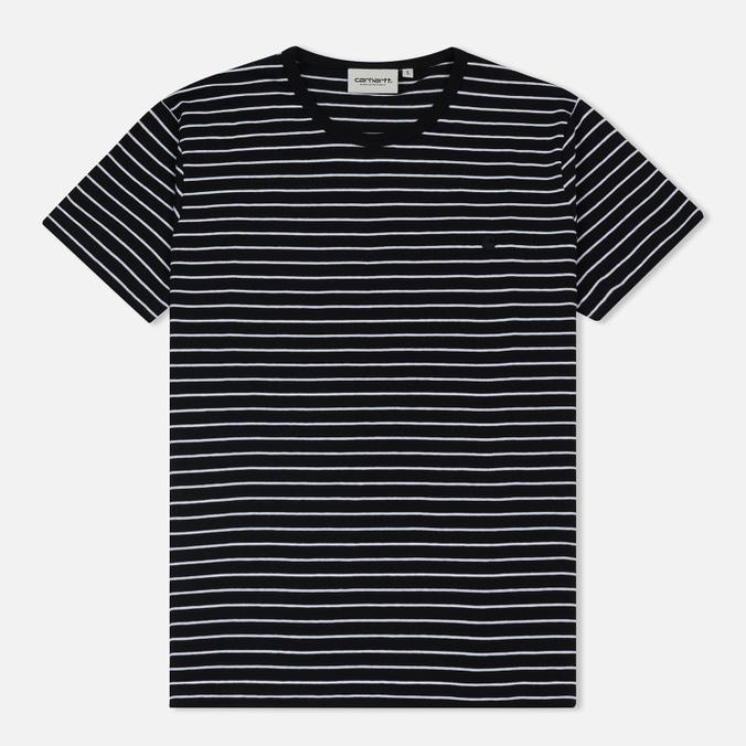 Женская футболка Carhartt WIP W' Cullen Stripe Black/White
