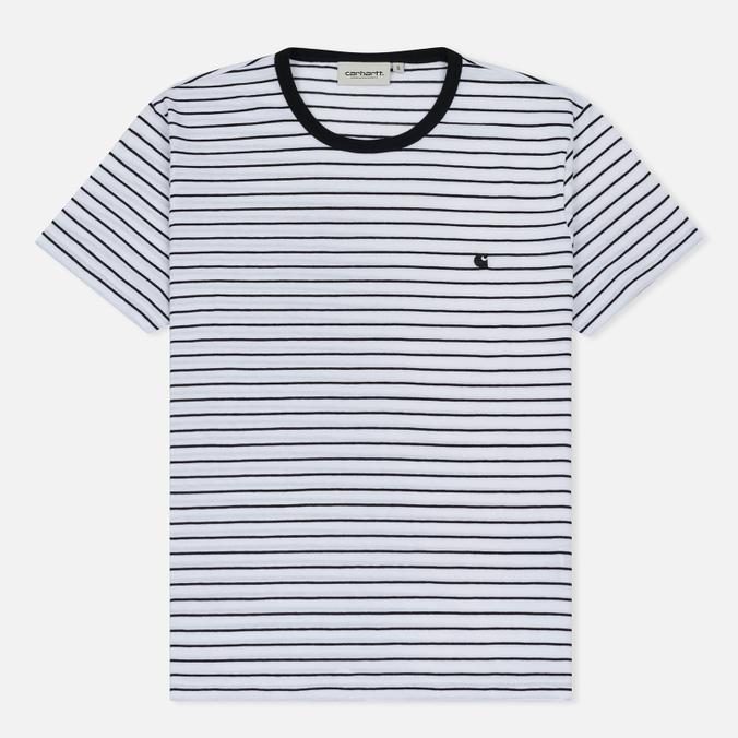 Женская футболка Carhartt WIP W' Cullen Stripe White/Black