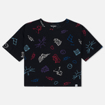 Carhartt WIP W' Lucile Scribble Print Women's T-shirt Black photo- 0