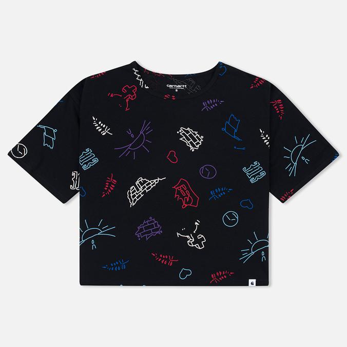 Женская футболка Carhartt WIP W' Lucile Scribble Print Black