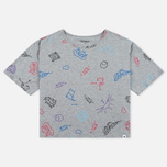 Женская футболка Carhartt WIP W' Lucile Scribble Print Grey Heather фото- 0