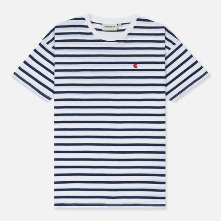 Женская футболка Carhartt WIP W' Robie Stripe White/Blue/Goji