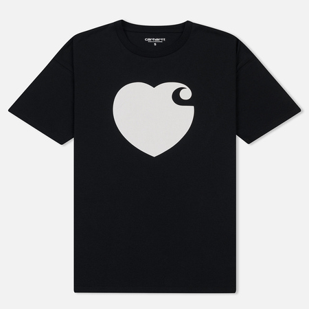 Женская футболка Carhartt WIP W' S/S Hartt Black/White