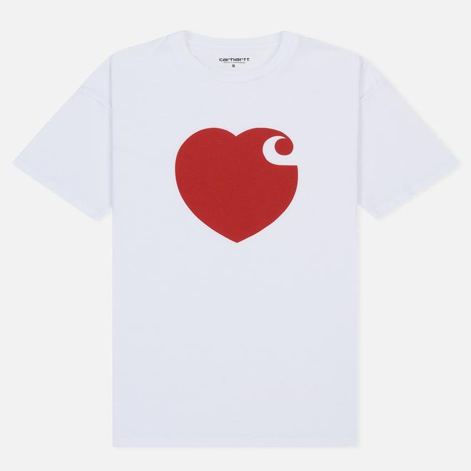 Женская футболка Carhartt WIP W' S/S Hartt White/Cardinal