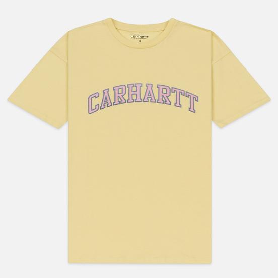Женская футболка Carhartt WIP W' S/S Princeton Pale Yellow