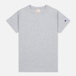Женская футболка Champion Reverse Weave Basic Crew Neck Grey фото- 0