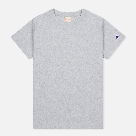 Женская футболка Champion Reverse Weave Basic Crew Neck Grey