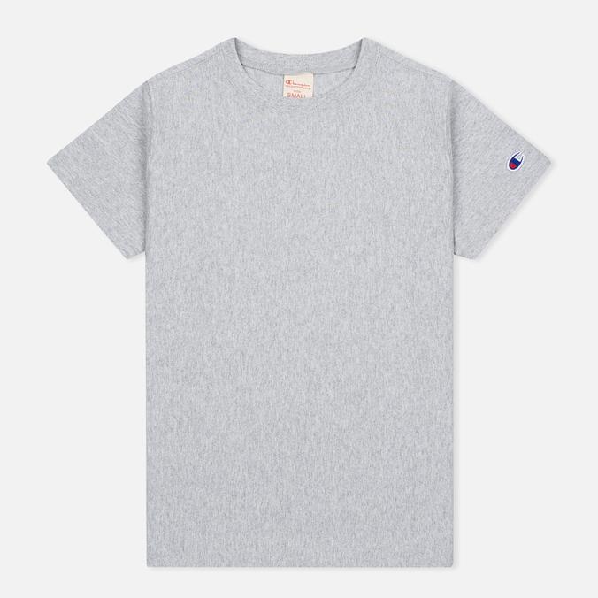Женская футболка Champion Reverse Weave Basic Crew Neck Grey