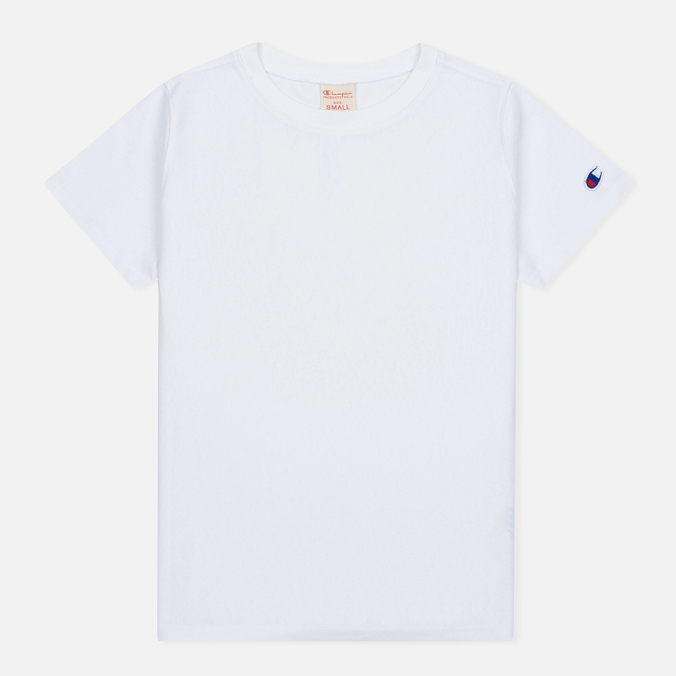 Женская футболка Champion Reverse Weave Basic Crew Neck White
