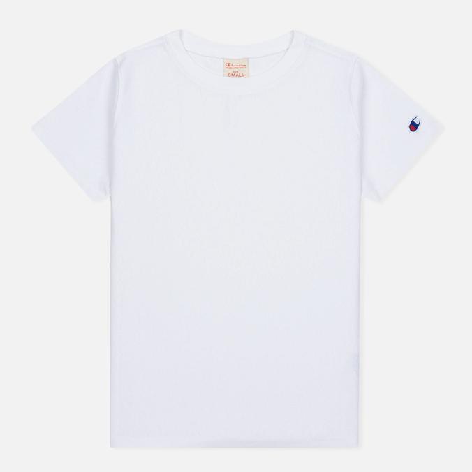 Champion Reverse Weave Basic Crew Neck Women's T-Shirt White