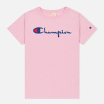 Женская футболка Champion Reverse Weave Basic Light Pink фото- 0