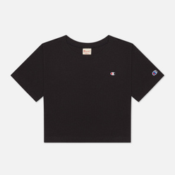Женская футболка Champion Reverse Weave C Logo Crew Neck Cropped Black
