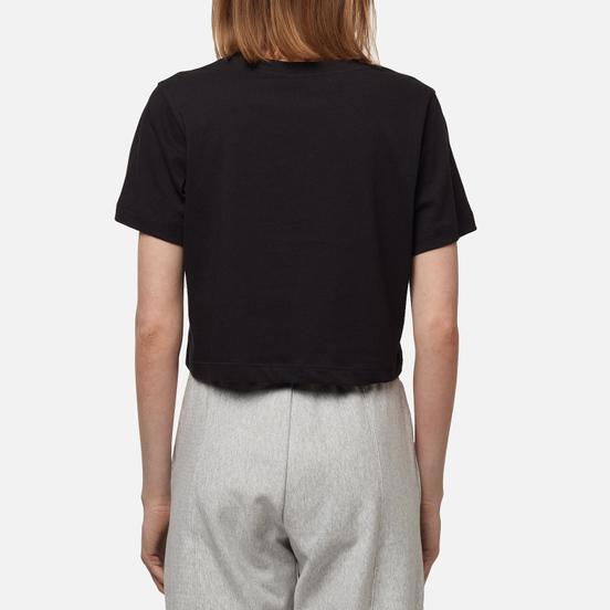 Женская футболка Champion Reverse Weave C Logo Crew Neck Cropped Black