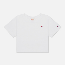 Женская футболка Champion Reverse Weave C Logo Crew Neck Cropped White
