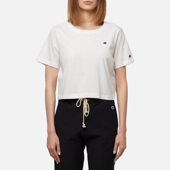 Женская футболка Champion Reverse Weave C Logo Crew Neck Cropped White