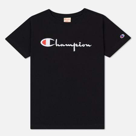 Женская футболка Champion Reverse Weave Crew Neck Front Logo Black