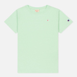 Женская футболка Champion Reverse Weave Crewneck Logo Embroidery Green фото- 0