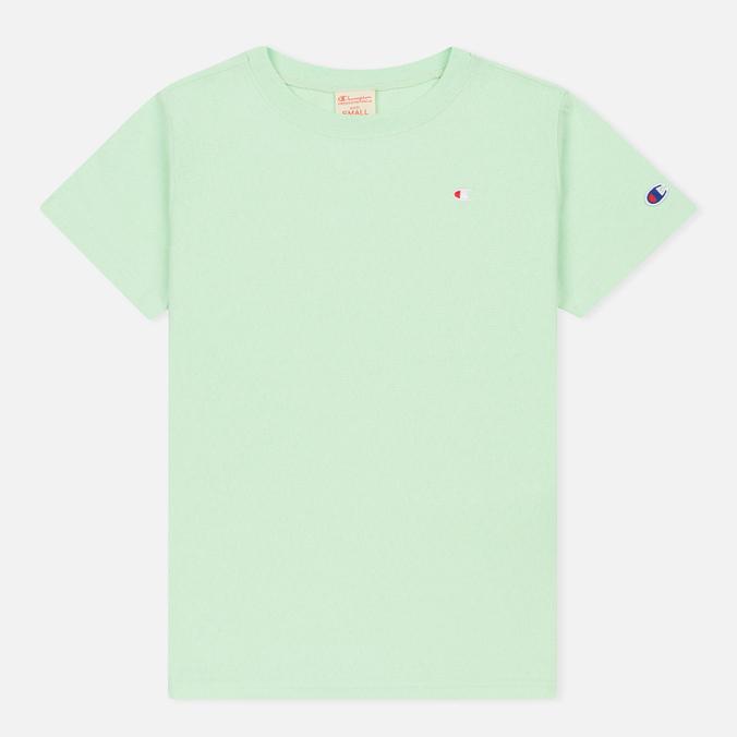Женская футболка Champion Reverse Weave Crewneck Logo Embroidery Green