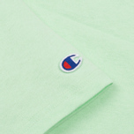 Женская футболка Champion Reverse Weave Crewneck Logo Embroidery Green фото- 3