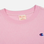 Женская футболка Champion Reverse Weave Crewneck Logo Embroidery Light Pink фото- 1