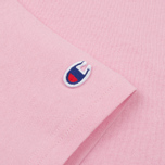 Женская футболка Champion Reverse Weave Crewneck Logo Embroidery Light Pink фото- 3