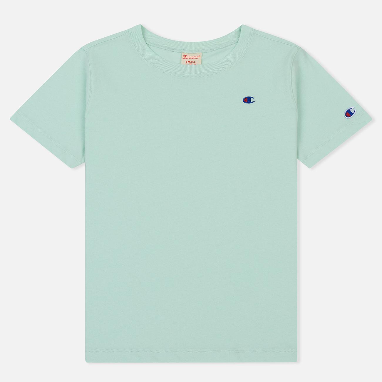 Женская футболка Champion Reverse Weave Logo Embroidered Onto The Chest And Sleeve Honeydew