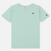 Женская футболка Champion Reverse Weave Logo Embroidered Onto The Chest And Sleeve Honeydew фото- 0