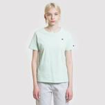 Женская футболка Champion Reverse Weave Logo Embroidered Onto The Chest And Sleeve Honeydew фото- 1