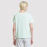 Женская футболка Champion Reverse Weave Logo Embroidered Onto The Chest And Sleeve Honeydew фото- 3