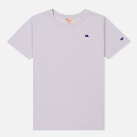 Женская футболка Champion Reverse Weave Logo Embroidered Onto The Chest And Sleeve Lavender