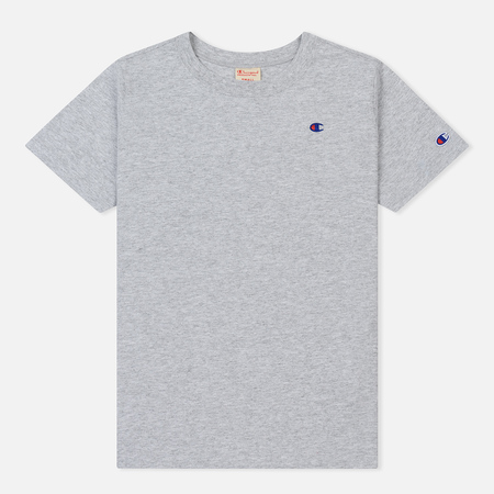 Женская футболка Champion Reverse Weave Logo Embroidered Onto The Chest And Sleeve Light Grey