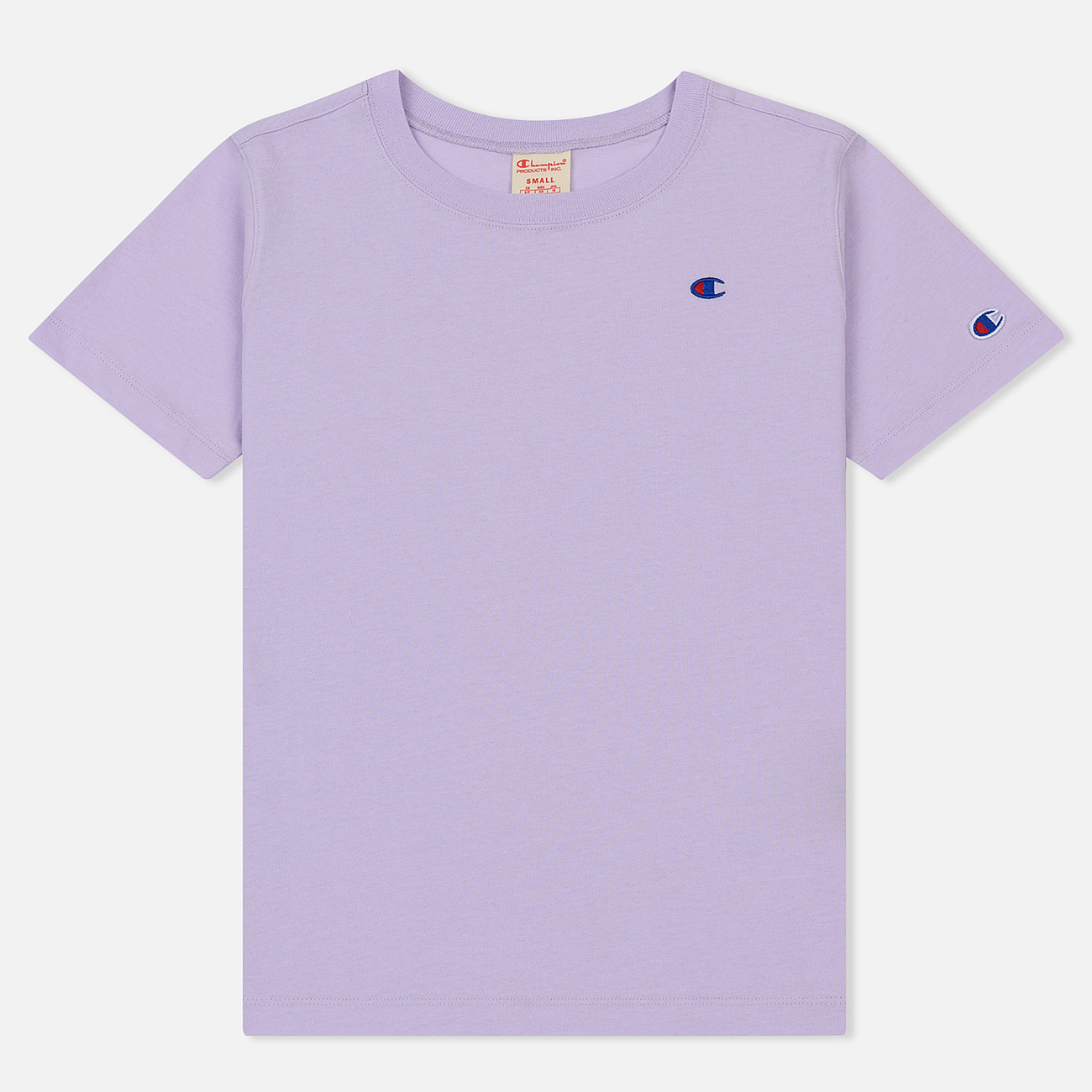 Женская футболка Champion Reverse Weave Logo Embroidered Onto The Chest And Sleeve Pastel Lilac