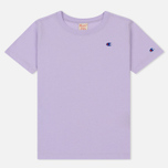 Женская футболка Champion Reverse Weave Logo Embroidered Onto The Chest And Sleeve Pastel Lilac фото- 0