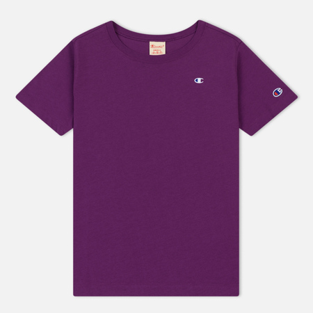 Женская футболка Champion Reverse Weave Logo Embroidered Onto The Chest And Sleeve Purple