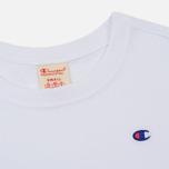 Женская футболка Champion Reverse Weave Logo Embroidered Onto The Chest And Sleeve White фото- 1