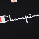 Женская футболка Champion Reverse Weave Script Logo Crew Neck Black фото- 2