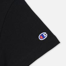 Женская футболка Champion Reverse Weave Script Logo Crew Neck Black фото- 3