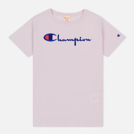 Женская футболка Champion Reverse Weave Script Logo Crew Neck Lavender