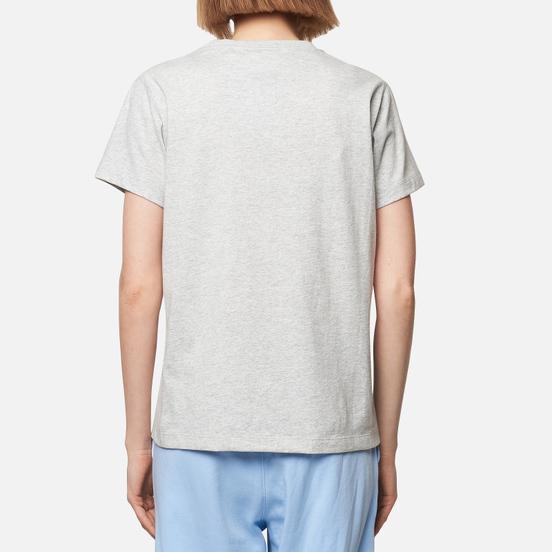 Женская футболка Champion Reverse Weave Script Logo Crew Neck Light Grey