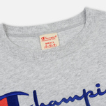 Женская футболка Champion Reverse Weave Script Logo Crew Neck Light Grey фото- 1