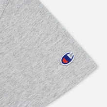Женская футболка Champion Reverse Weave Script Logo Crew Neck Light Grey фото- 3