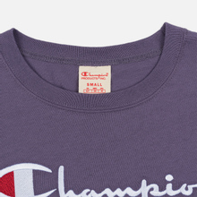 Женская футболка Champion Reverse Weave Script Logo Crew Neck Mulled Grape фото- 1