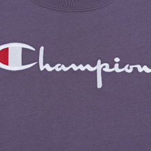 Женская футболка Champion Reverse Weave Script Logo Crew Neck Mulled Grape фото- 2