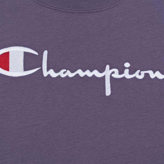 Женская футболка Champion Reverse Weave Script Logo Crew Neck Mulled Grape
