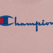 Женская футболка Champion Reverse Weave Script Logo Crew Neck Pale Mauve фото- 2