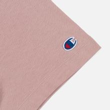 Женская футболка Champion Reverse Weave Script Logo Crew Neck Pale Mauve фото- 3